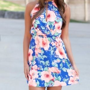 Gorgeous Bright Faux Wrap Sun Dress size MEDIUM💖